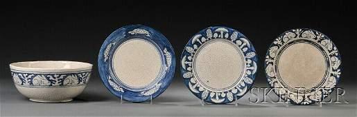 290: , Four Pieces of Dedham Pottery, Art pottery, Serv