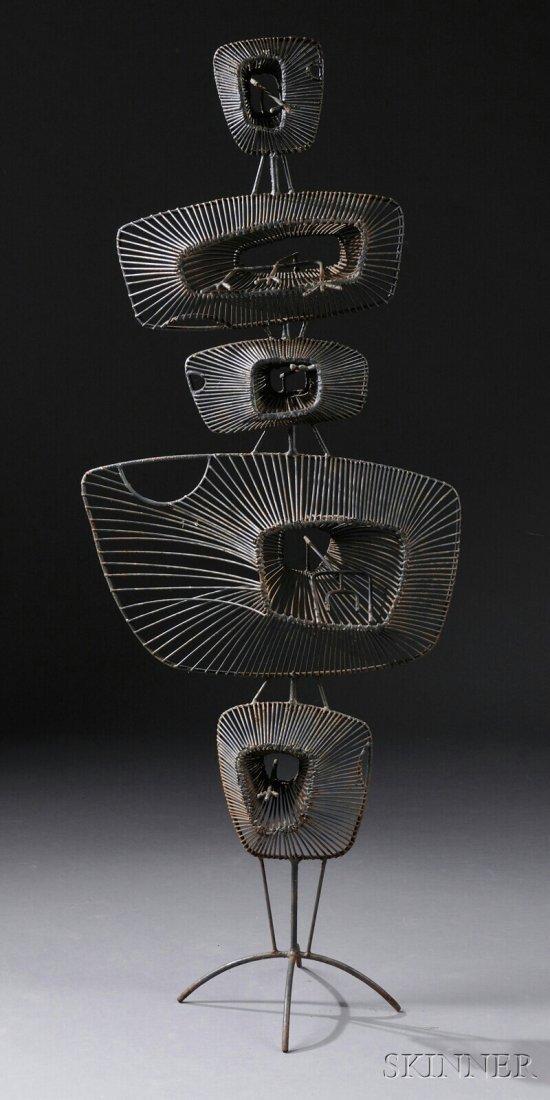 484: , John Risley (1912-2002) Lily Pads Sculpture, Ste