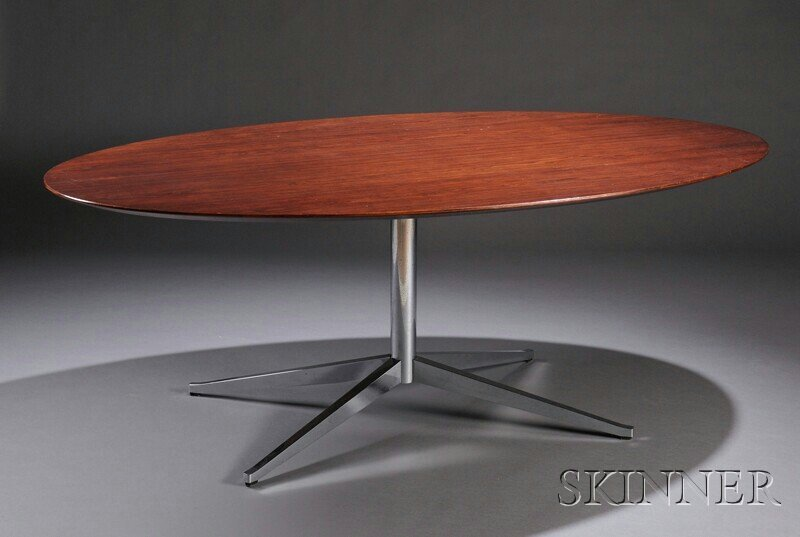 500: , Florence Knoll Dining Table, Brazilian rosewood