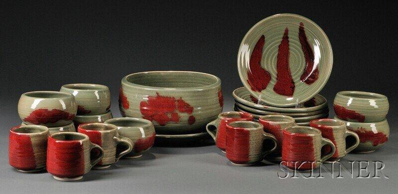 502: , Otto Heino Porcelain Dinnerware Set, Studio pott