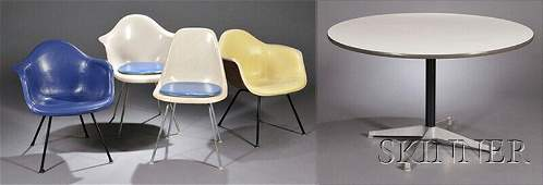 768: , Charles Eames for Herman Miller Table and Four F