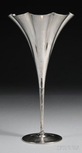 1: Tiffany & Co. Sterling Silver Trumpet Vase, New York