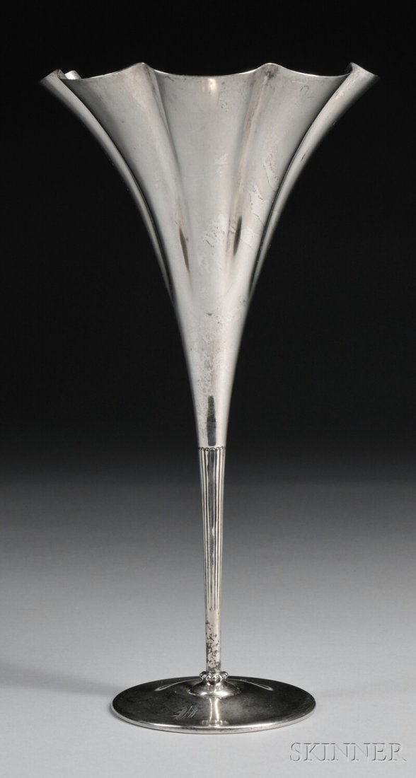 1: Tiffany & Co. Sterling Silver Trumpet Vase, New York