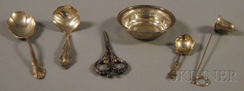 3: Six Small Sterling Silver and Silver-plated Table an