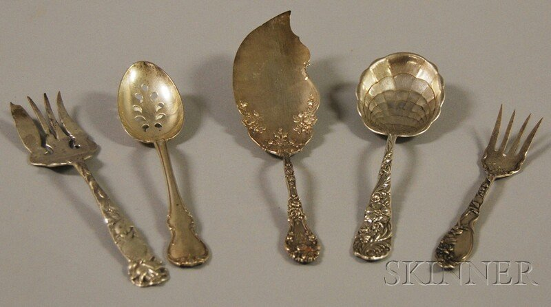 5: Five Sterling Silver Flatware Serving Items, a Towle