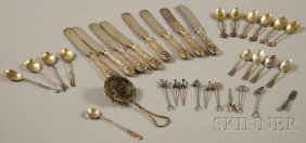 8: Small Group of Assorted Mostly Sterling Silver Flatw