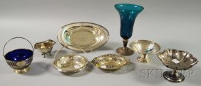 11: Eight Assorted Silver and Silver-mounted Serving an