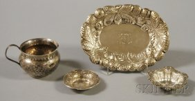 Four Small Pieces Of Sterling Silver Tableware, A S
