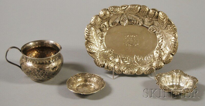 15: Four Small Pieces of Sterling Silver Tableware, a S