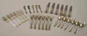 """16: Watson """"Tuscany"""" Partial Sterling Silver Flatware S"""