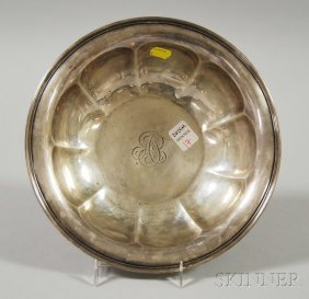 17: Reed & Barton Sterling Silver Lobed Bowl, the flori