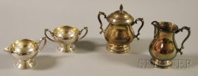 19: Two Sterling Silver Creamer and Sugar Sets, an Inte