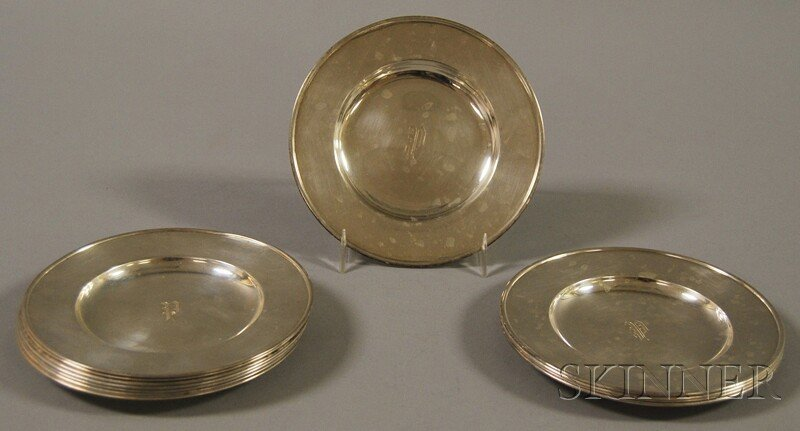22: Set of Twelve Frank W. Smith Sterling Silver Bread
