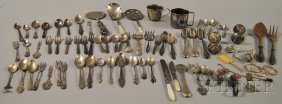 23: Large Group of Silver and Silver-plated Flatware an