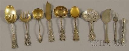57: Nine Assorted Sterling Silver Flatware Items, maker