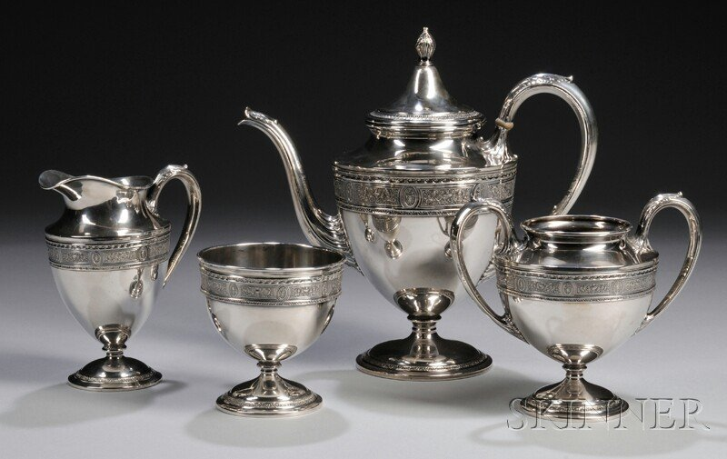 "72: Four-piece International ""Wedgwood"" Sterling Silver"