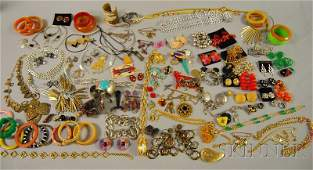 171 Large Group of Costume Jewelry including a group