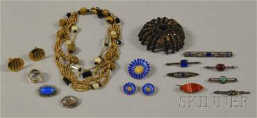177 Small Group of Assorted Jewelry including a large