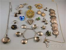 263: Group of Assorted Mostly Sterling Silver Jewelry,