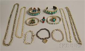 431 Small Group of Mostly Sterling Silver Jewelry inc