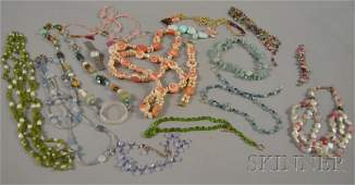 472: Group of Mostly Beaded Costume Jewelry, including