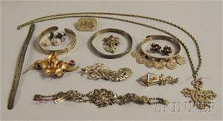 474: Small Group of Sterling Silver Jewelry, including