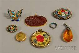 497 Small Group of Assorted Antique and Costume Jewelr