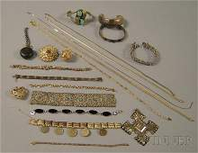 522: Group of Assorted Mostly Sterling Silver Jewelry,
