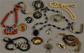 534 Small Group of Costume Jewelry including faux pea