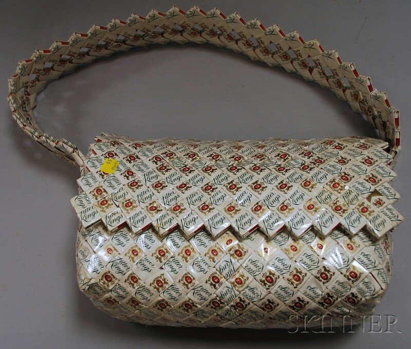 804: Folk Art Woven Pall Mall Cigarette Pack Wrapper Sh