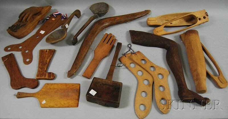 808: Group of Miscellaneous Carved and Shaped Wood Arti