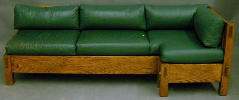814: Modern Custom Arts & Crafts-style Oak Built-in Set