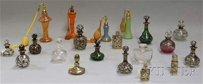 Collection of Art Glass Perfume and Scent Bottles
