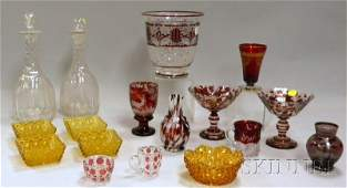 1442 Group of Assorted Mostly Colored Art Glass inclu