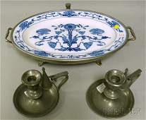 1464 Villeroy  Boch Blue Stenciled Poppydecorated Ce
