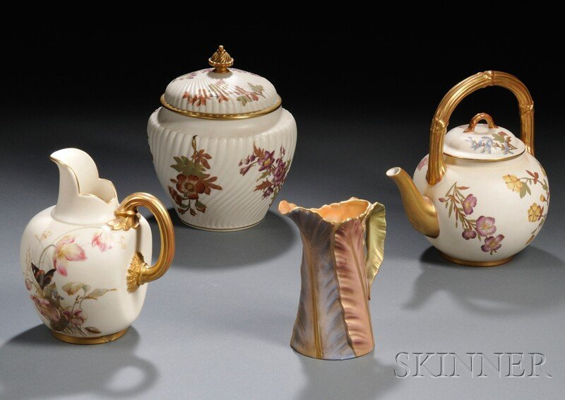 7: Four Royal Worcester Porcelain Items, England, late