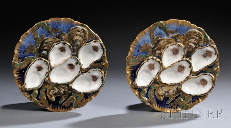 16: Pair of Rutherford B. Hayes Presidential Oyster Pla