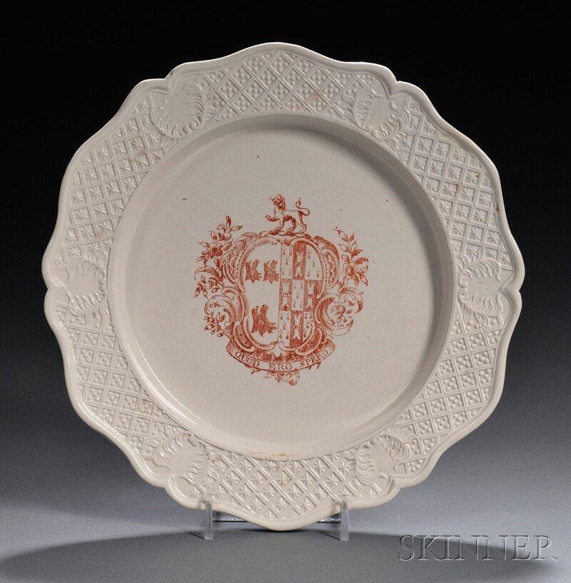 22: Staffordshire Red Transfer-printed White Salt-glaze