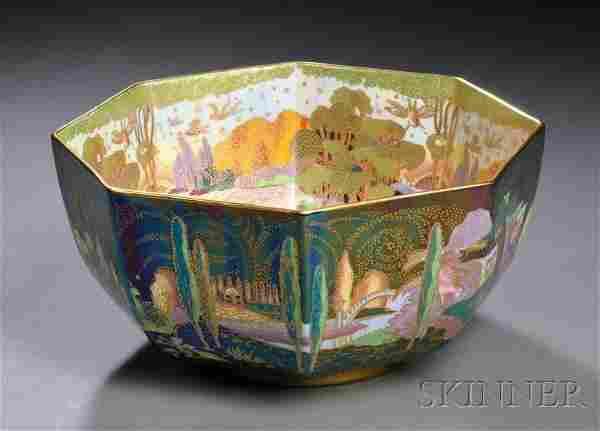 Modern Wedgwood Fairyland Lustre Octagonal Bowl, E