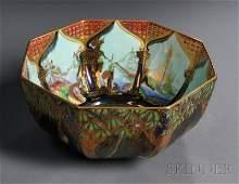 256: Wedgwood Fairyland Lustre Octagonal Bowl, England,