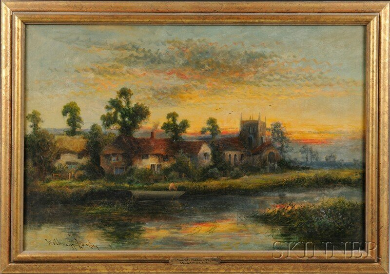 4: William Langley (British, fl. 1880-1920) Riverside L