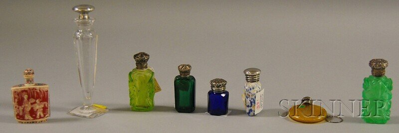 13: Seven Assorted Perfumes and a Chinese Ivory Snuff B