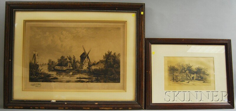 20: Two Framed Etchings: James David Smillie (American,