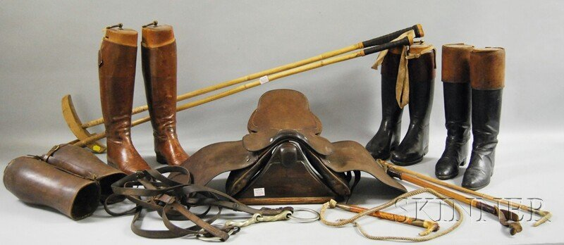 398: Group of Equestrian Riding Gear, including three p