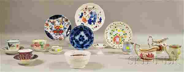 Eighteen Assorted 19th Century English Ceramic Ite