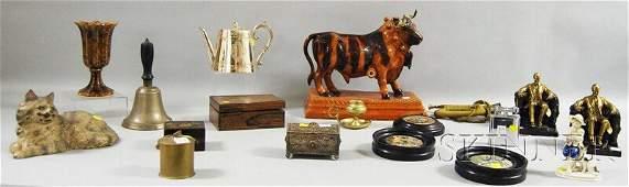 815: Eighteen Assorted Metal, Ceramic, and Wood Decorat
