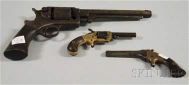 867: Three Late 19th Century Pistols, c. 1860-1880, one