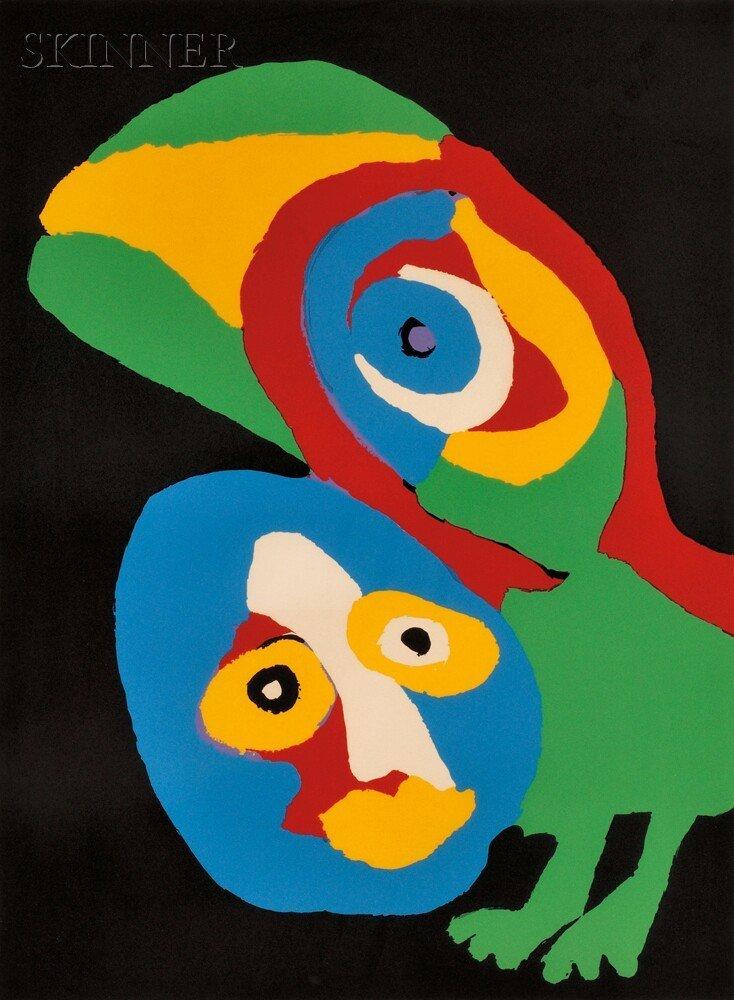 9: Karel Appel (Dutch, 1921-2006) Untitled, 1974. Signe