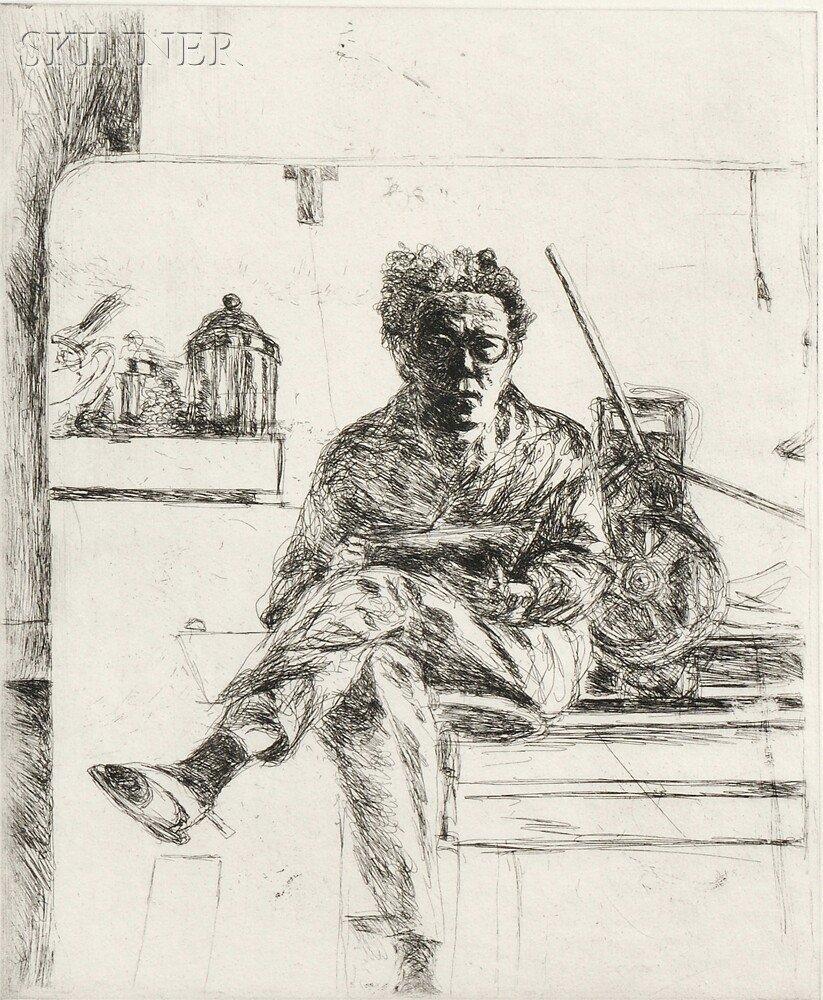 10: Avigdor Arikha (French/Israeli, 1929-2010) Mirror w