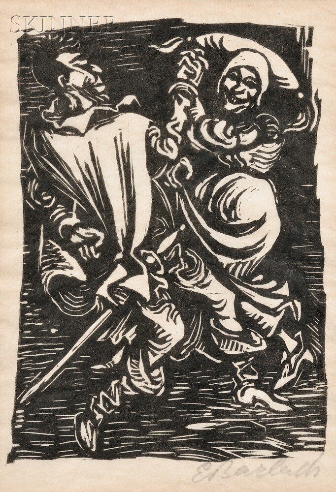 14: Ernst Barlach (German, 1870-1938) Two Images from W
